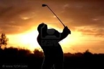 Golfer-at-twilight